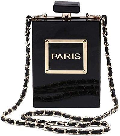 Women Acrylic Transparent Paris Perfume Shape Evening Bags Purses Clutch Vintage Banquet Handbag: Handbags: Amazon.com
