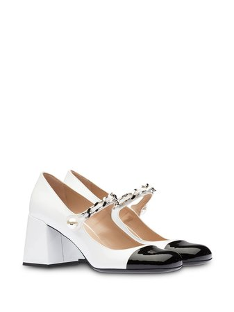 Miu Miu Patent-Leather Mary Jane Pumps
