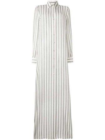 Lanvin long striped shirt - White
