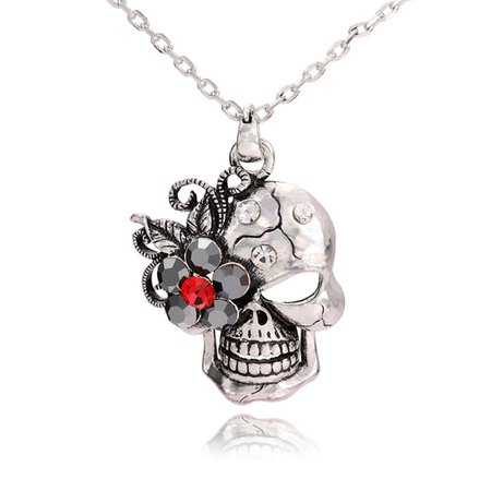 Diamond Heart Necklace: Bellatrix Bird Skull Necklace