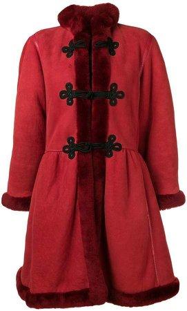 Mario Borsato Vintage fur-trimmed shearling coat