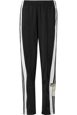 adidas Originals | Adibreak striped satin-jersey track pants | NET-A-PORTER.COM