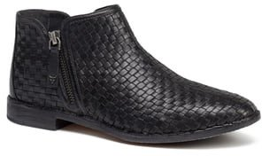 Amy Woven Leather Bootie