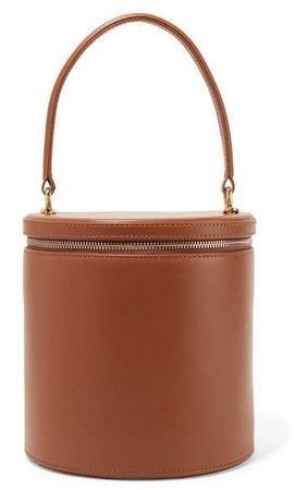 STAUD - Vitti Leather Tote - Brown