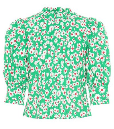 Mandy floral-printed cotton top