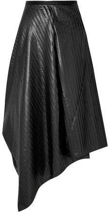 Sid Neigum Asymmetric Pleated Satin Skirt