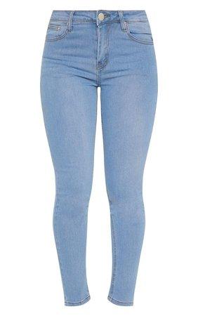 Light Wash Slim Leg Jeans | Jeans | PrettyLittleThing USA