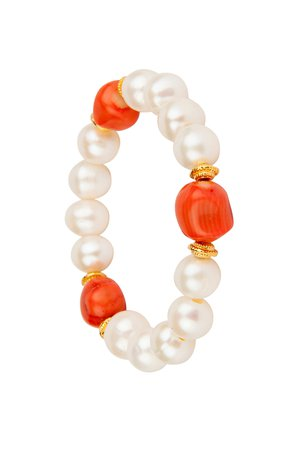coral and pearls bracelet - Google Search