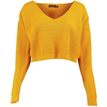 Yellow cozy fall sweater