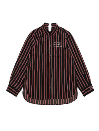 Nona9on Stripe Boxy Shirt