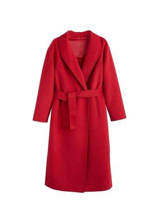 MANGO Wool overcoat