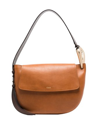 Shop brown Chloé Kiss shoulder bag with Express Delivery - Farfetch