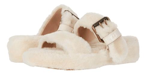 UGG Fuzz Yeah Natural Slide Fur Slipper Sandal Women's US sizes 5-11/NEW!!! | eBay