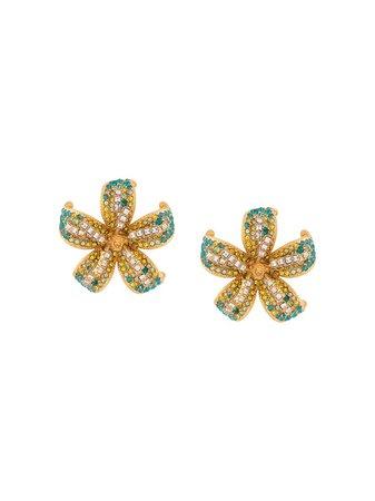 Versace Embellished Flower Earrings Ss20 | Farfetch.com