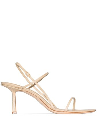 Studio Amelia, Snake-Effect Strappy Sandals