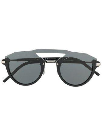Dior Eyewear Futuristic Layered round-frame Sunglasses - Farfetch