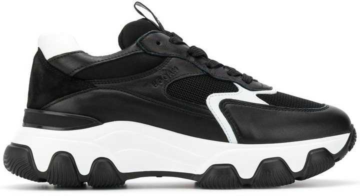 Chunky Contrast Sole Sneakers