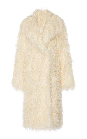 Paco Rabanne Oversized Shearling Coat Size: 46