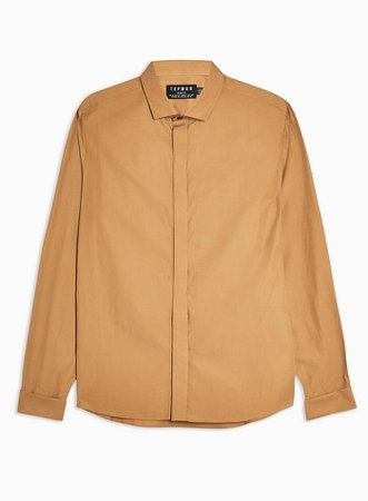 Brown Matte Slim Shirt | Topman
