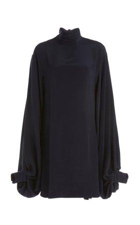 Balloon-Sleeve Double-Faced Crepe Mini Dress By Victoria Beckham | Moda Operandi