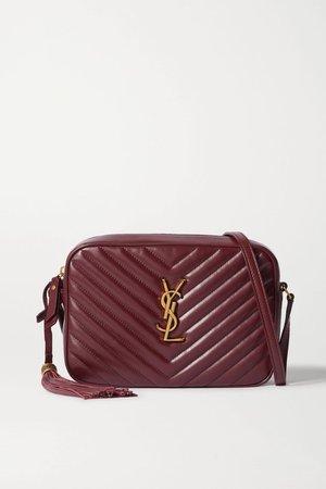 Burgundy Lou quilted leather shoulder bag | SAINT LAURENT | NET-A-PORTER