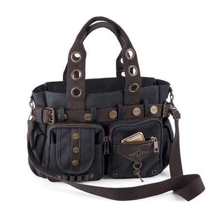 Steampunk Key Canvas Handbag - Women's Romantic & Fantasy Inspired Fashions