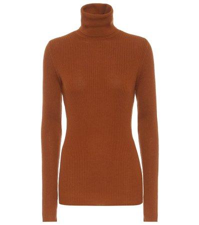 Joseph - Ribbed knit wool turtleneck sweater | Mytheresa