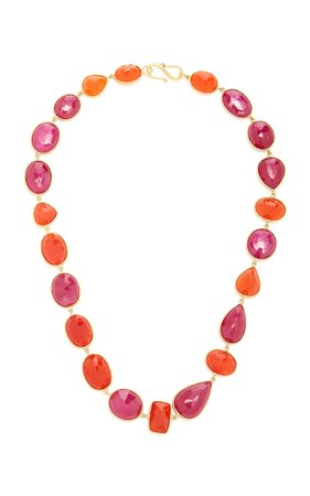 Bahina One of a Kind Ruby and Carnelian Necklace