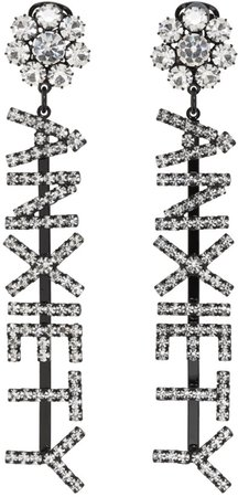 Ashley Williams Black 'Anxiety' Earrings