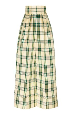 Plaid Silk-Blend Wide-Leg Pants by Rosie Assoulin | Moda Operandi