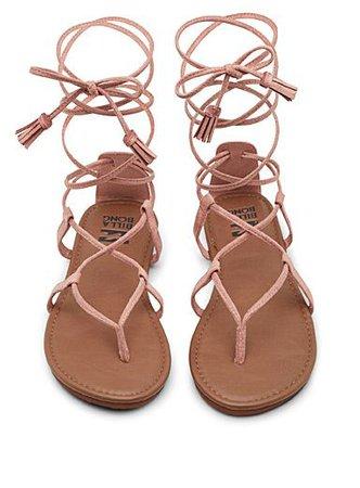 Pink Strap Sandals