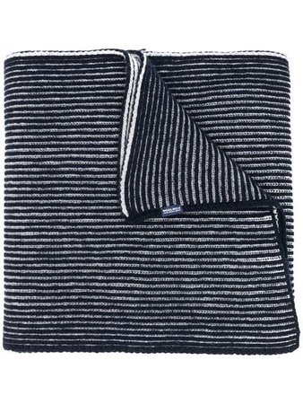 Woolrich striped pattern scarf
