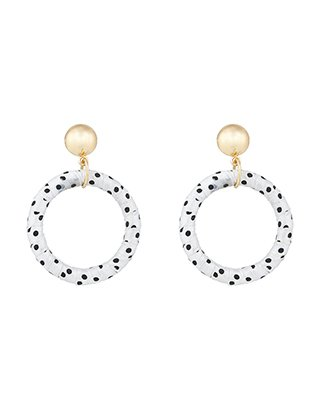 Accessorize | Polka Dot Hoop Earrings | Multi | One Size | 5819389000