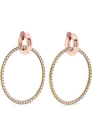Spinelli Kilcollin | Casseus 18-karat yellow and rose gold diamond earrings | NET-A-PORTER.COM