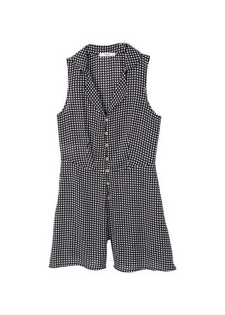 MANGO Printed short jumpsuit
