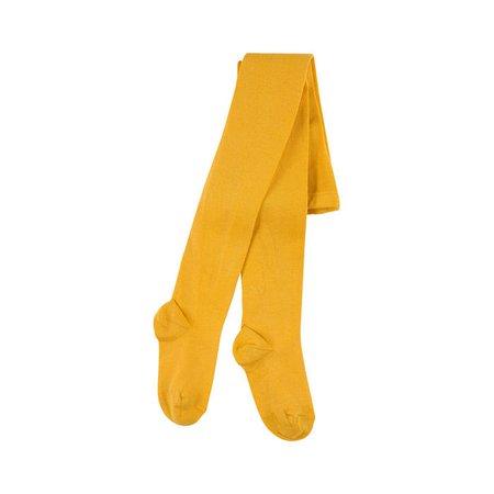 Yellow knit tights Condor for girls | Melijoe.com