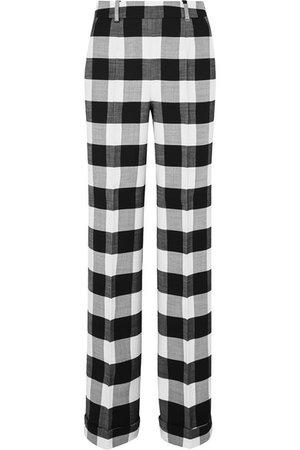 Altuzarra | Gavi gingham wool-blend twill wide-leg pants | NET-A-PORTER.COM
