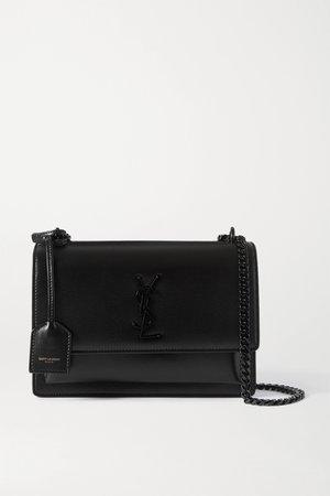 Black Sunset medium leather shoulder bag | SAINT LAURENT | NET-A-PORTER