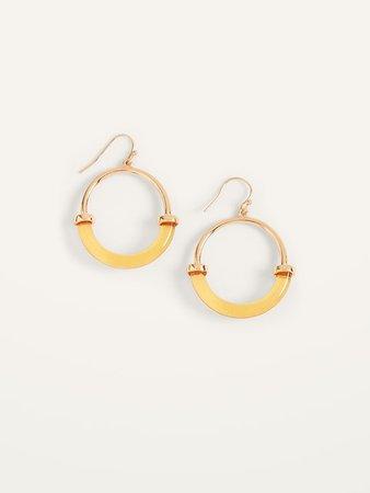 Gold-Toned Resin Hoop Earrings for Women | Old Navy