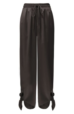 LIGHT CODES Wide Leg Pants black