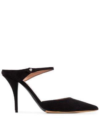 Tabitha Simmons Black Allie 95 Suede Mules For Women | Farfetch.com