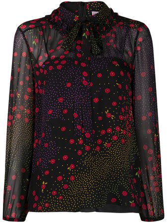 RedValentino Floral Dotted Blouse - Farfetch