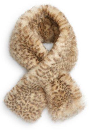 Animal Print Faux Fur Scarf