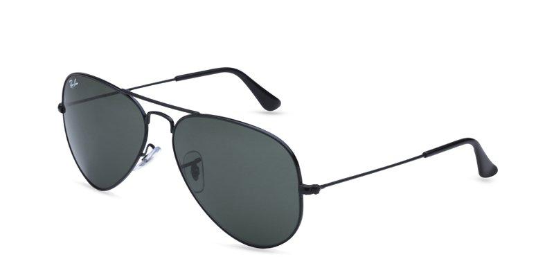 Ray Ban Black Aviator Sunglasses