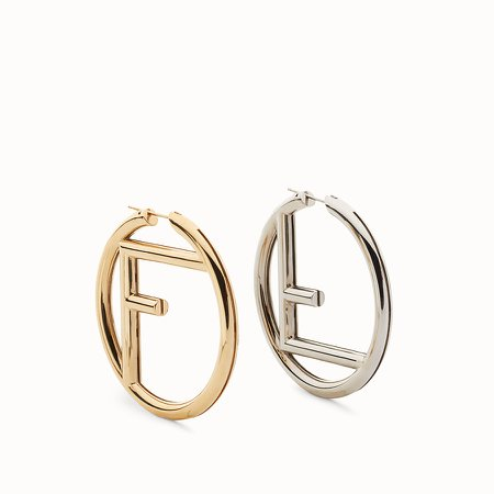 Gold and palladium earrings - F IS FENDI EARRINGS | Fendi