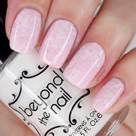 Pink Floral Nails