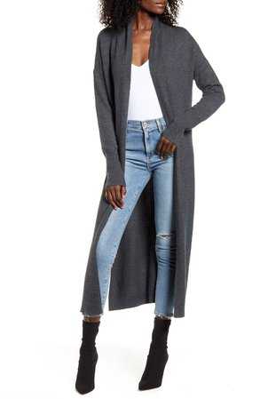 Leith Longline Open Cardigan | Nordstrom