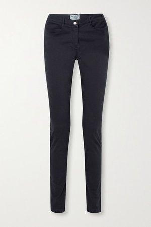 Purdey - Mid-rise Slim-leg Jeans - Navy
