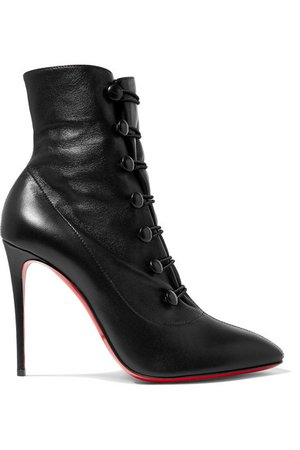 Christian Louboutin | French Tutu 100 leather ankle boots | NET-A-PORTER.COM