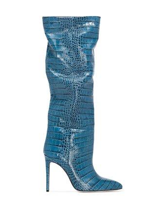 Paris Texas Crocodile-Effect Boots Ss20 | Farfetch.com